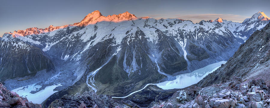 Sunrise On Mount Sefton And Mount Cook Photograph by Colin Monteath