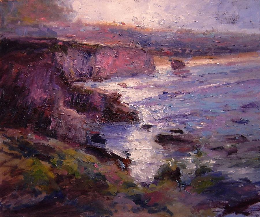 Sunrise Painting - Sunrise On Pismo Beach Ca by R W Goetting