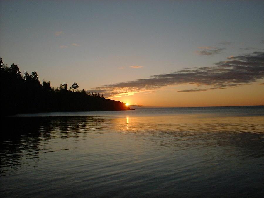 Sun Photograph - Sunrise On Superior by Bonfire Photography