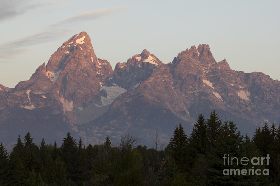 Grand Tetons Photograph - Sunrise On The Grand Tetons by Dustin K Ryan