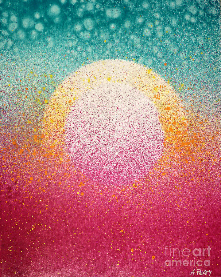 Beautiful Painting - Sunrise On The Moon by Audrey Peaty