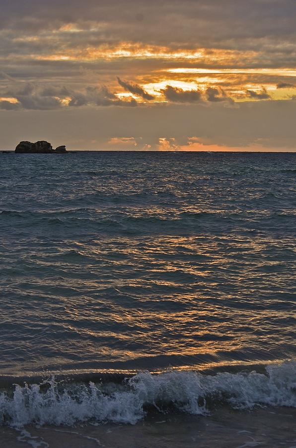 Landscape Photograph - Sunrise On The Ocean by Nancy Rohrig
