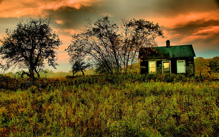 Old House Photograph - Sunrise On The Prairie by Matthew Winn