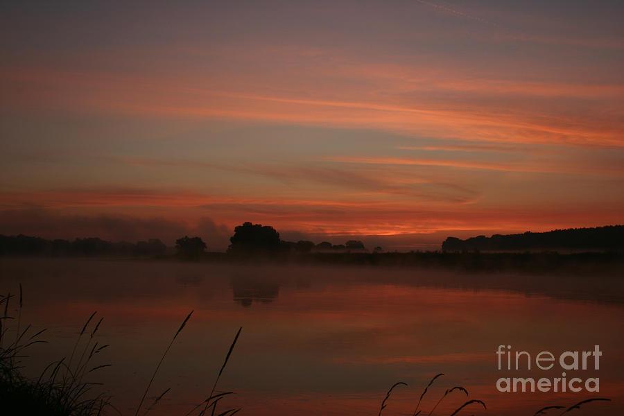 Sunrise Photograph - Sunrise On The River by Torsten Dietrich