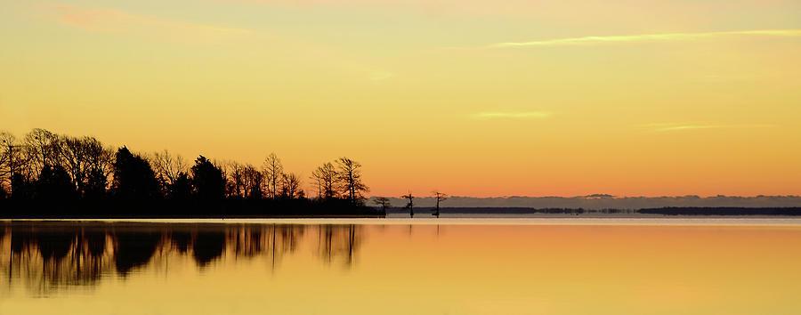 Horizontal Photograph - Sunrise Over Lake by Patti White Photography