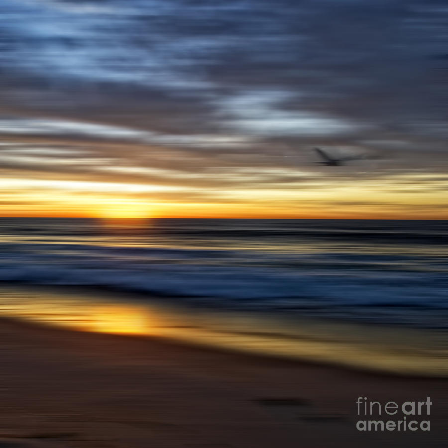 Ocean Photograph - Sunrise Over The Ocean by Diane Metz