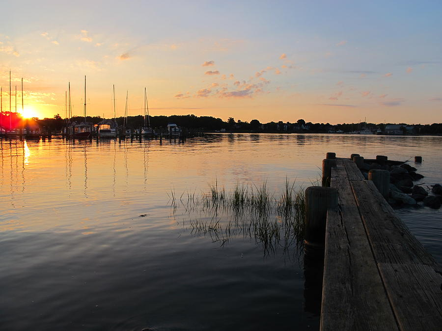 Nature Photograph - Sunrise Pier  by Valia Bradshaw