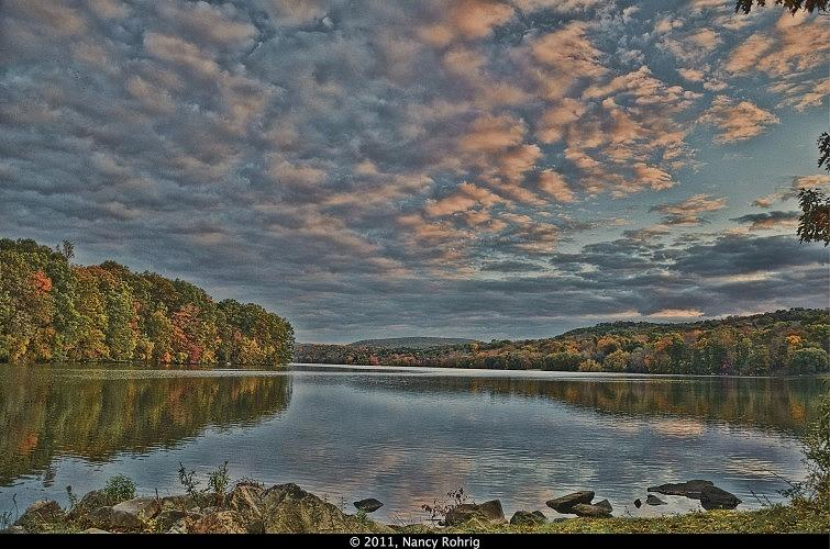 Landscape Photograph - Sunrise Putnam Lake by Nancy Rohrig