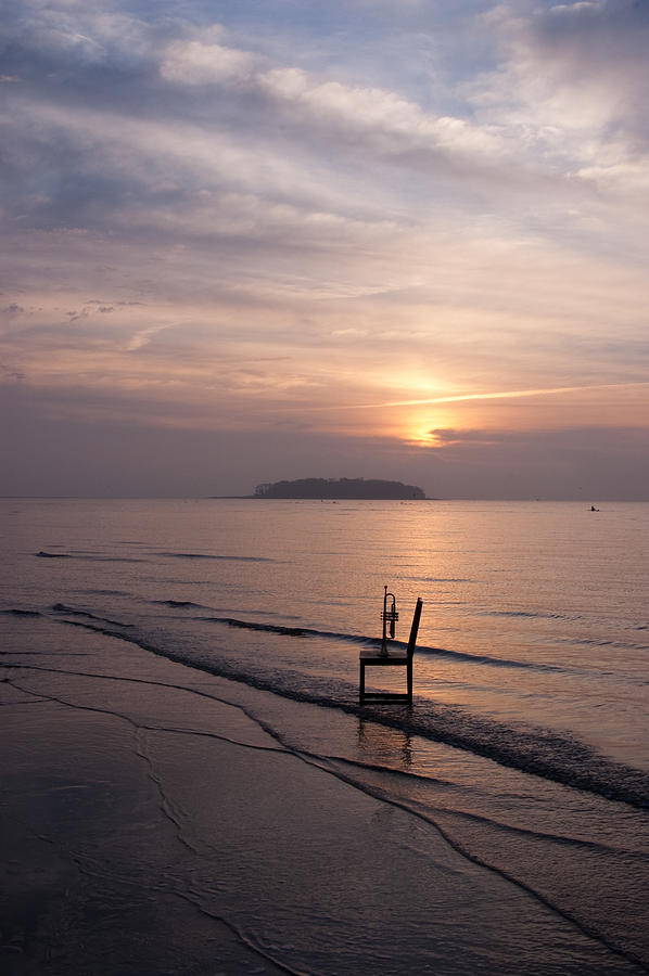 Chair Photograph - Sunrise by Ron Smith