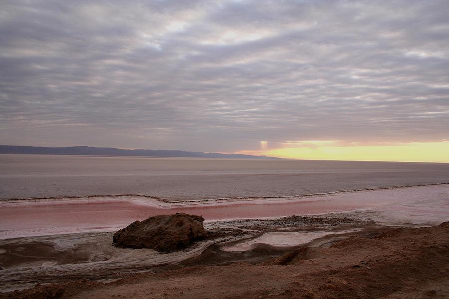Nature Painting - Sunrise Salt Lake - Tunisia  by Simona  Mereu