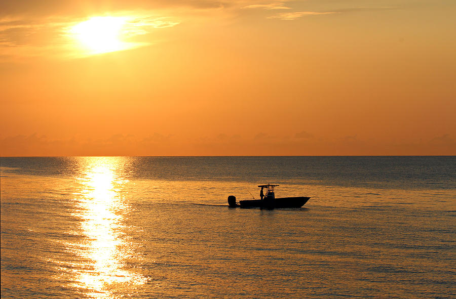 Background Photograph - Sunrise Sport Fishing by Paul Fell