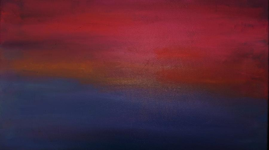 Sky Painting - Sunrise Sunset by Alanna Hug-McAnnally