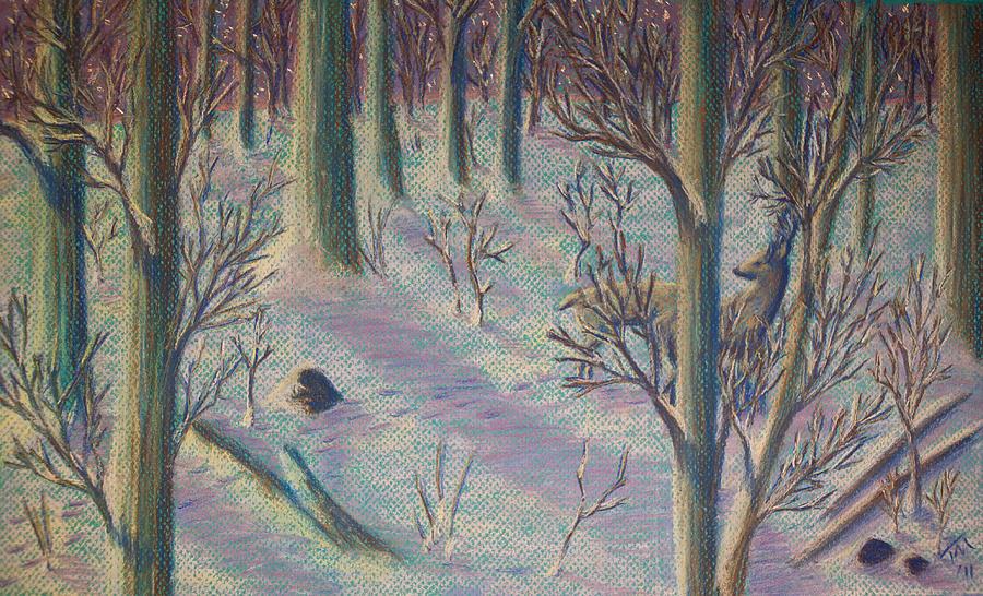Deer Painting - Sunrise Watch by Thomas Maynard