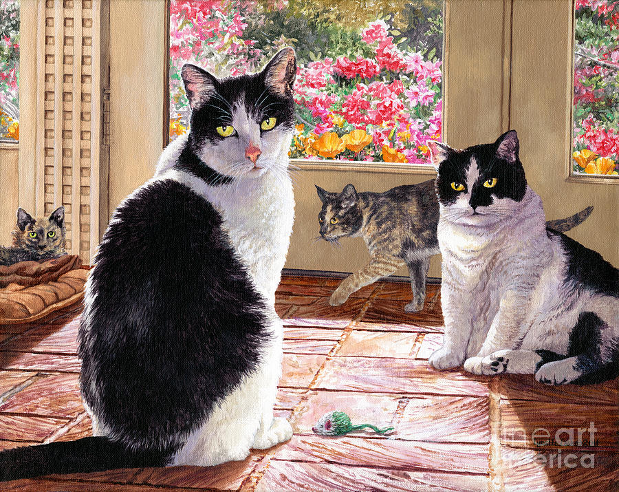 Acrylic Painting - Sunroom Rendezvous by Lynette Cook