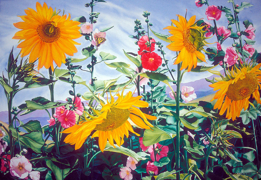 Sunsation Painting by Mary Backer