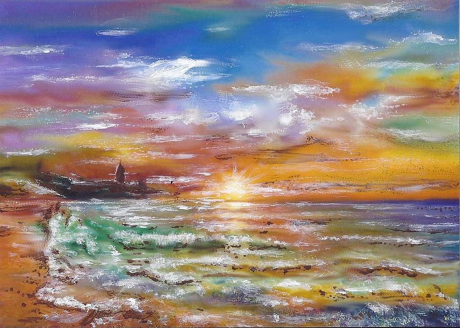 Sunset 6 Painting by Eric Sosnowski