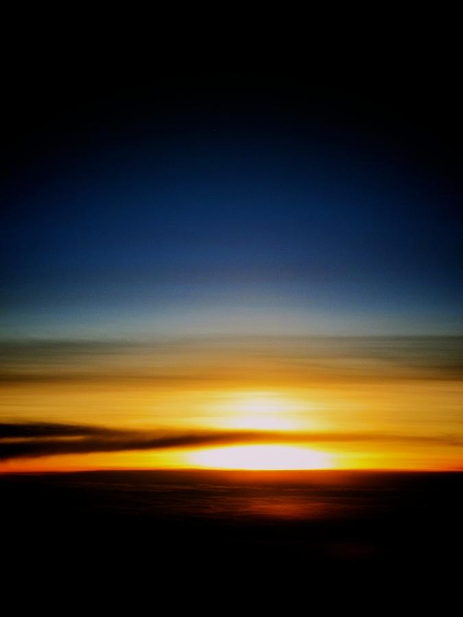 Sunset Photograph - Sunset Above The Clouds by Jyotsna Chandra