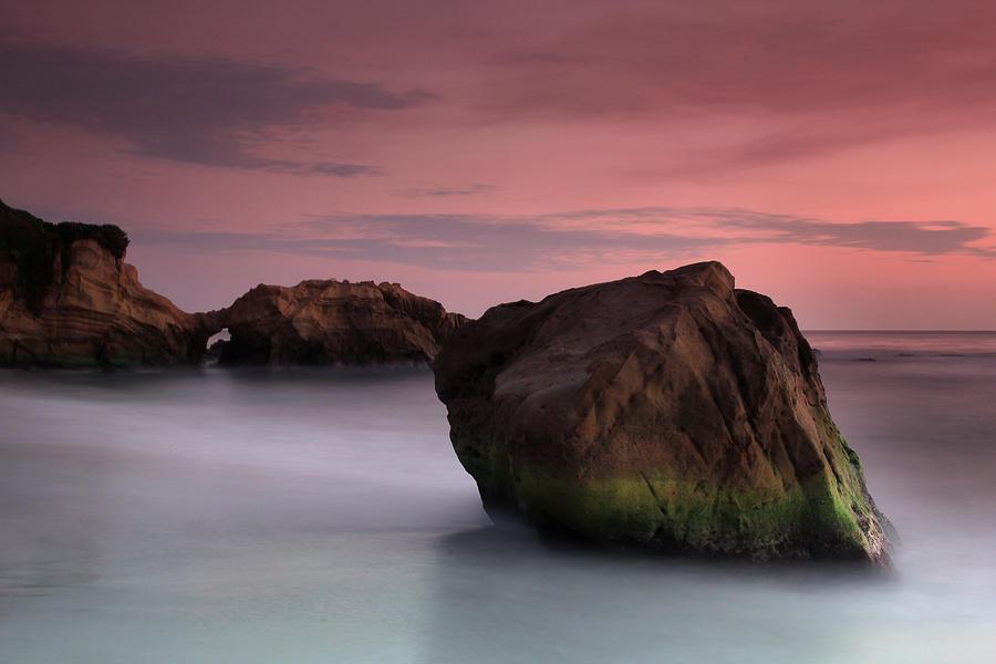 Sunset Photograph - Sunset At Arch Rock by Dave Sribnik
