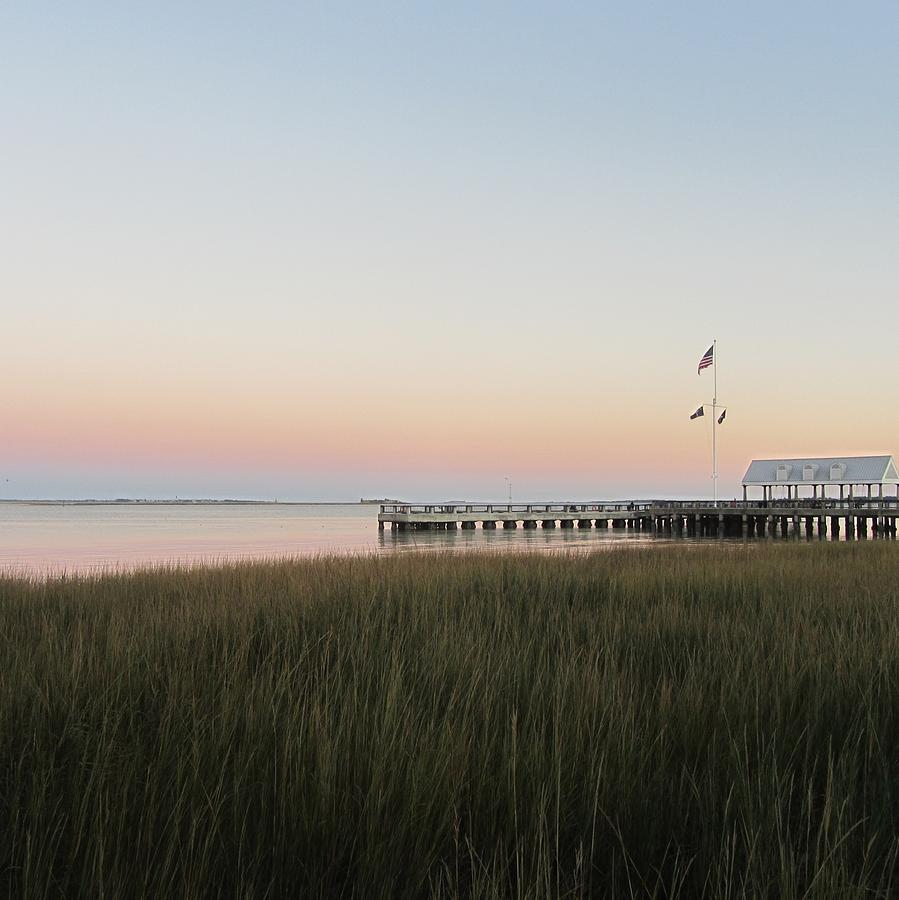 Charleston Photograph - Sunset At Charleston Bay 2 by Cathy Lindsey