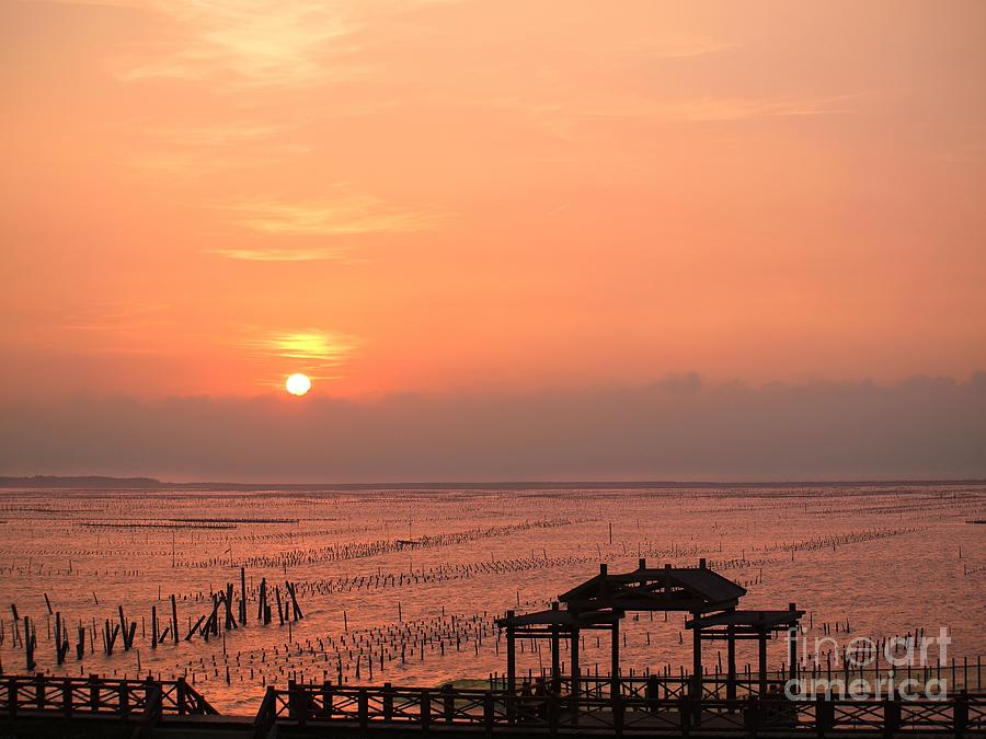 Sun Photograph - Sunset At Cigu Bay by Yali Shi