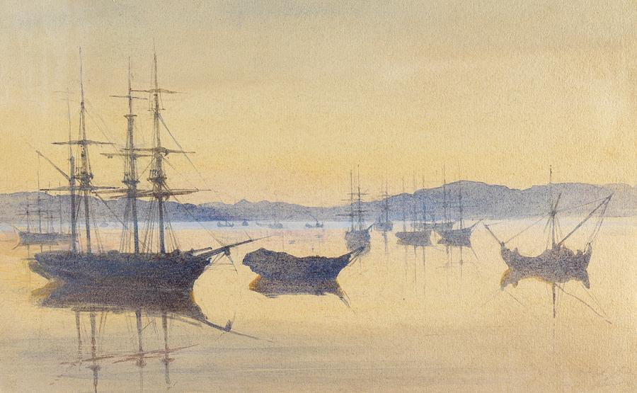 Boat Painting - Sunset At Constantinople by M Baillie Hamilton