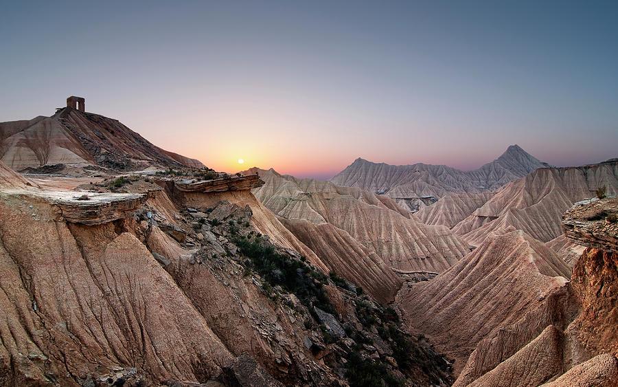 Horizontal Photograph - Sunset At Desert by Inigo Cia