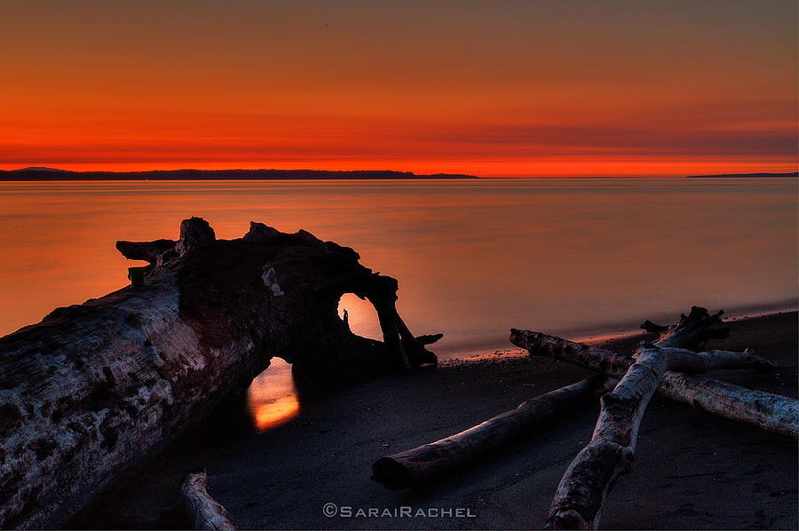 Beach Photograph - Sunset At Marina Beach Park In Edmonds Washington by Sarai Rachel