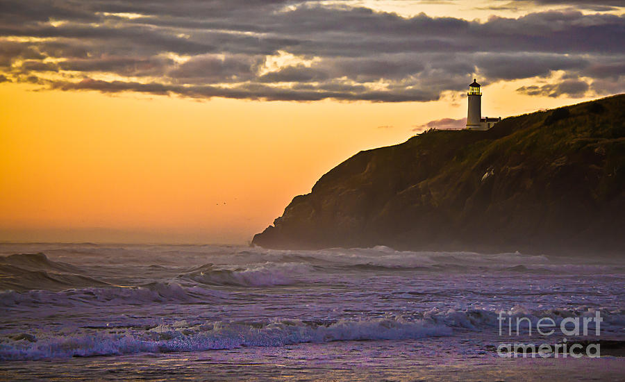 Lighthouse Photograph - Sunset At North Head II by Robert Bales