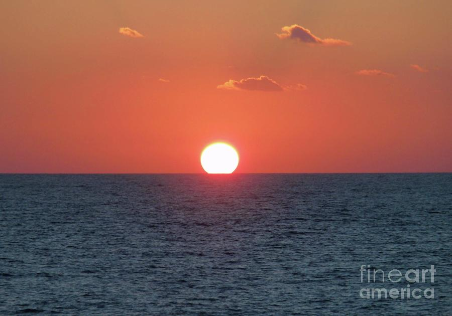 Sunset Photograph - Sunset At Sea by Marilyn West