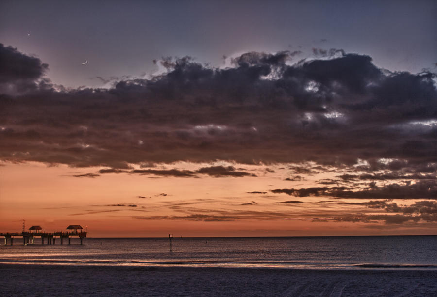 Beach Photograph - Sunset At The Beach by Chuck Bowser
