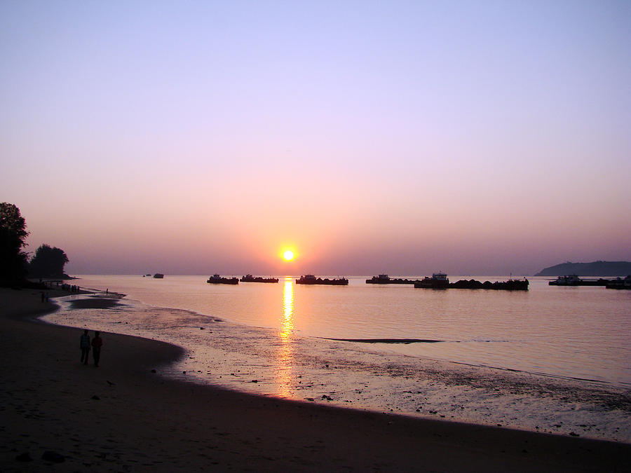 Sun Photograph - Sunset At The Beach by Susmita Mishra