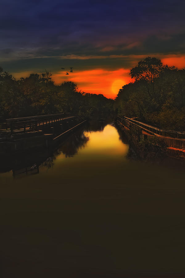 Sunset Photography Photograph - Sunset At The Old Canal by Tom York Images