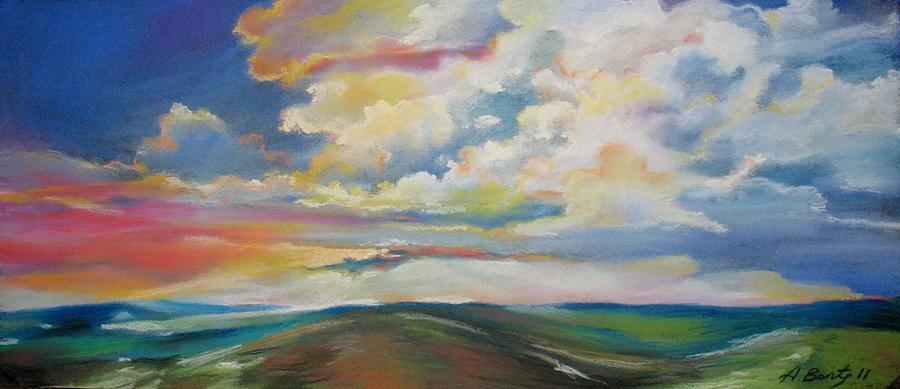 Drawing - Sunset by Aurel Bonta