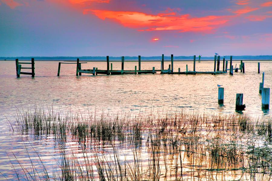 Sun Photograph - Sunset Bay Iv by Steven Ainsworth