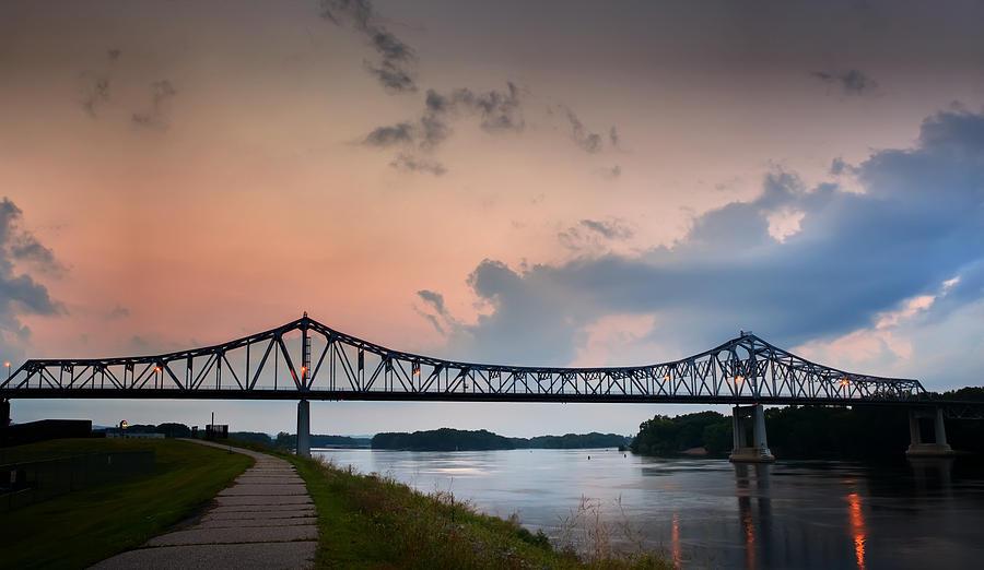 Sunset Bridge by Al  Mueller
