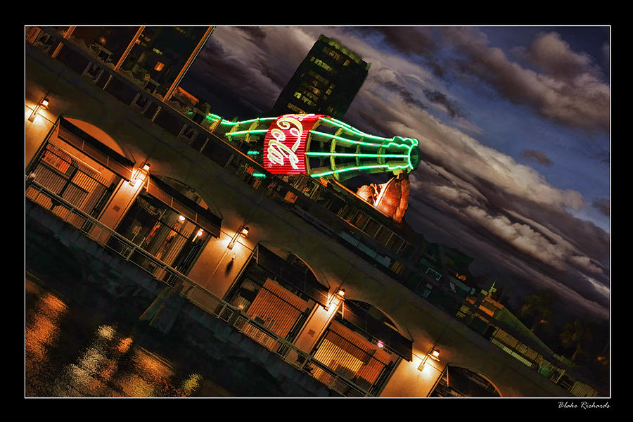 San Francisco Giants Photograph - Sunset Coke Bottle by Blake Richards
