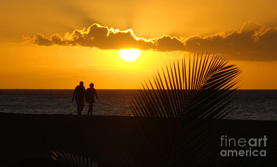 Sunset Photograph - Sunset Couple by Camilla Brattemark