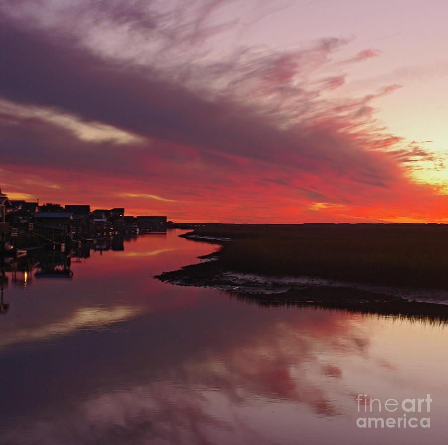 Sunset Creek Photograph by Thomas Lovelace