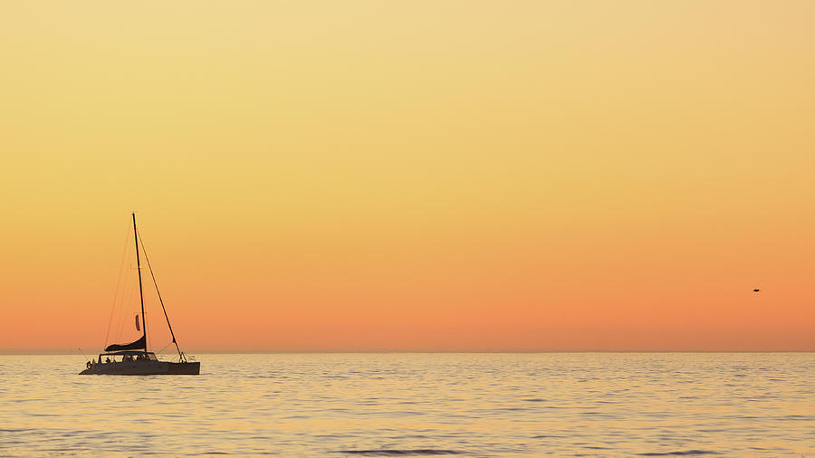 Horizontal Photograph - Sunset Cruise At Cape Town by Tony Hawthorne