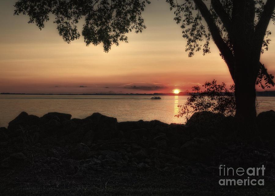 Sunset Photograph - Sunset Cruise by Pamela Baker