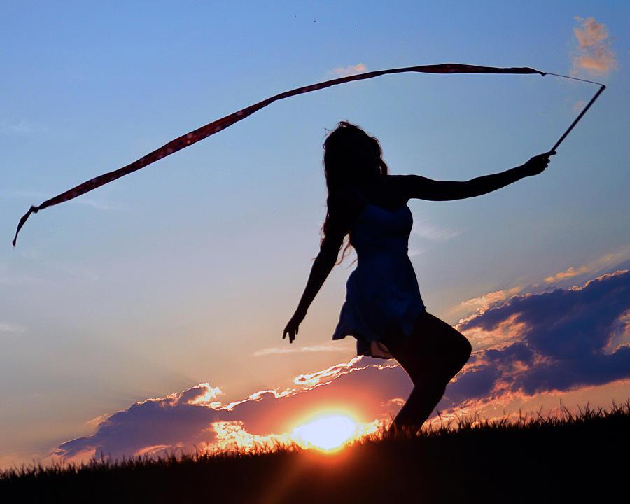 Silhouette Photograph - Sunset Dancer 1 by Kurt Bonnell