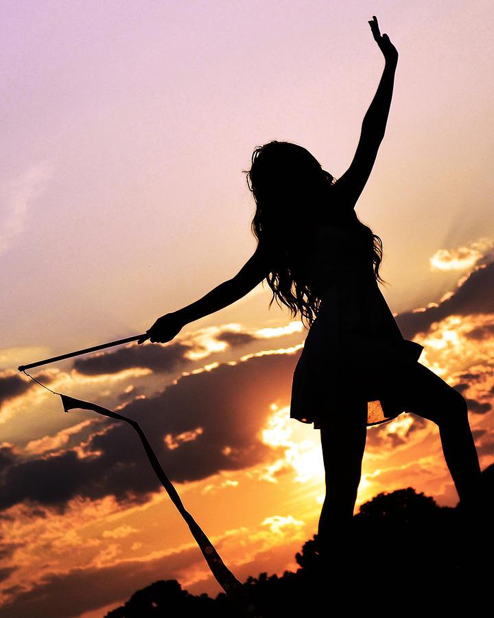 Silhouette Photograph - Sunset Dancer 2 by Kurt Bonnell
