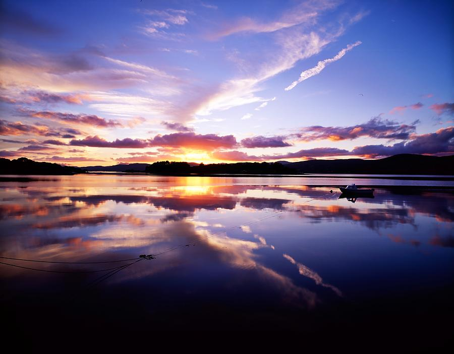 Bay Photograph - Sunset, Dinish Island Kenmare Bay by The Irish Image Collection