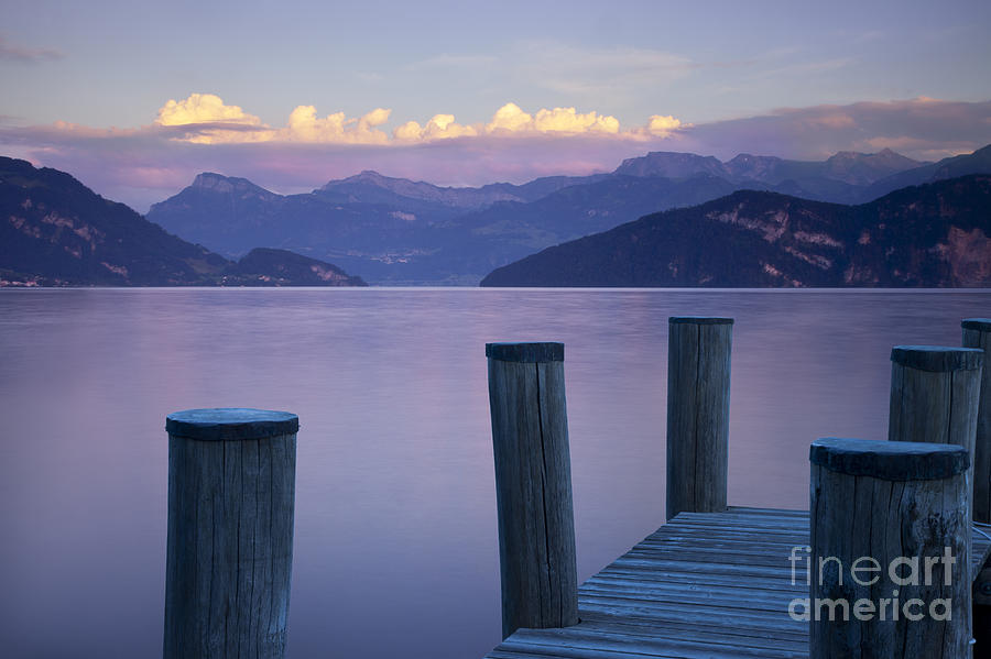 Lake Photograph - Sunset Dock by Brian Jannsen