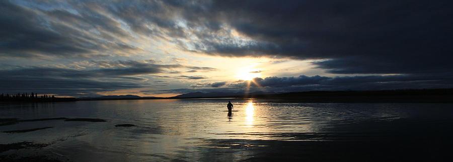 Kobuk River Photograph - Sunset Fishing On The Kobuk by Kelly Turnage