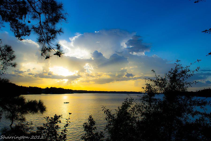 Lakes Photograph - Sunset Fishing by Shannon Harrington