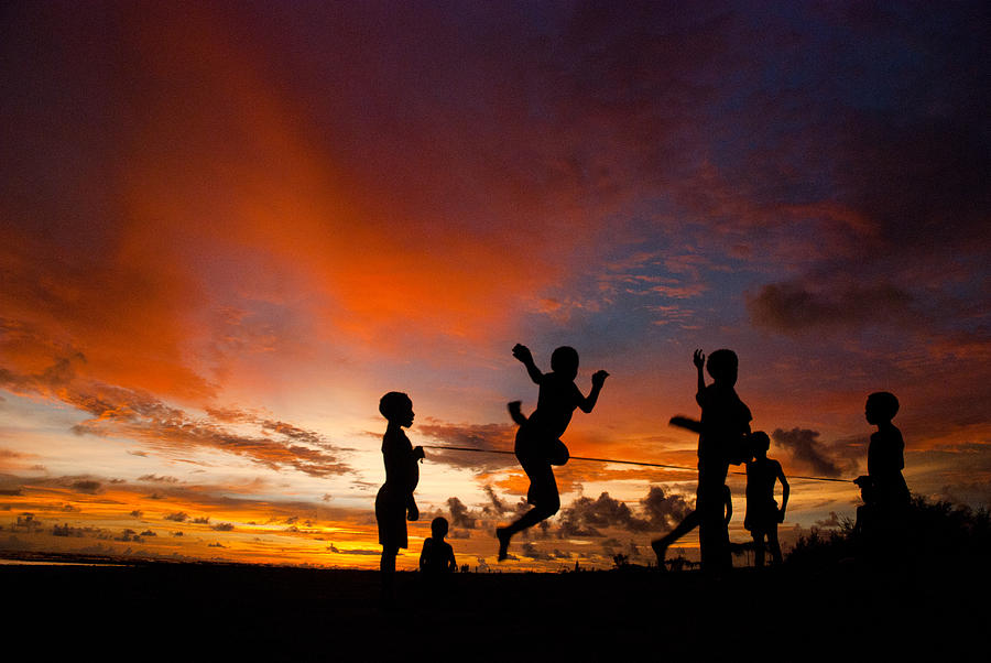 Landscape Photograph - Sunset For Komoro Children by Thomas Suryono