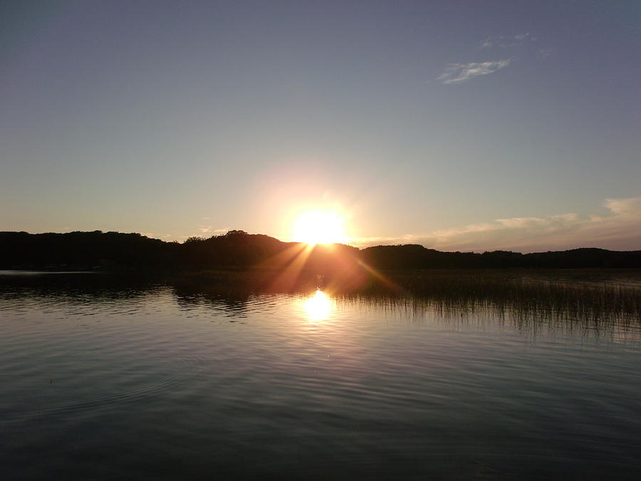 Sunset Lake Photograph - Sunset Glass At The Lake by Brian  Maloney