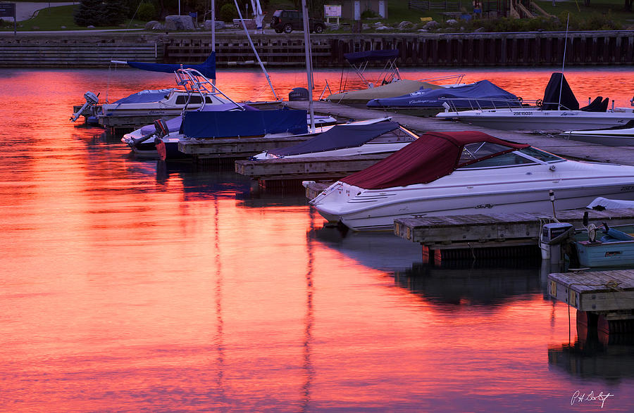Boating Photograph - Sunset Harbor by Phill Doherty