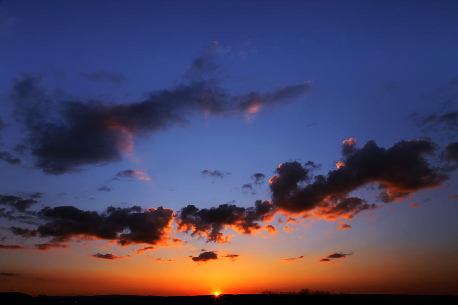 Sunset Photograph - Sunset In Ithaca New York by Paul Ge